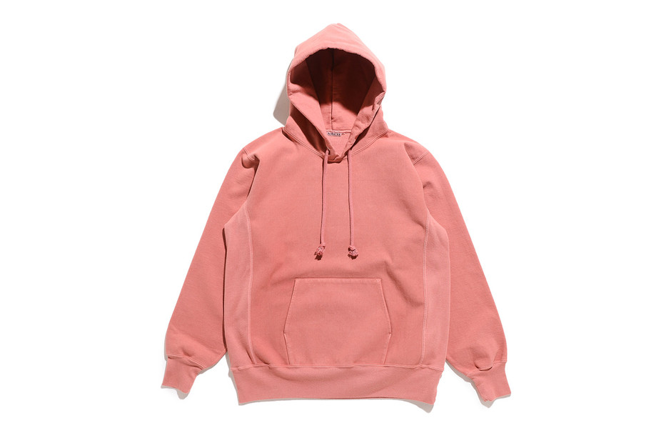 Super Milled Sweat P/O Parka-Pink Red