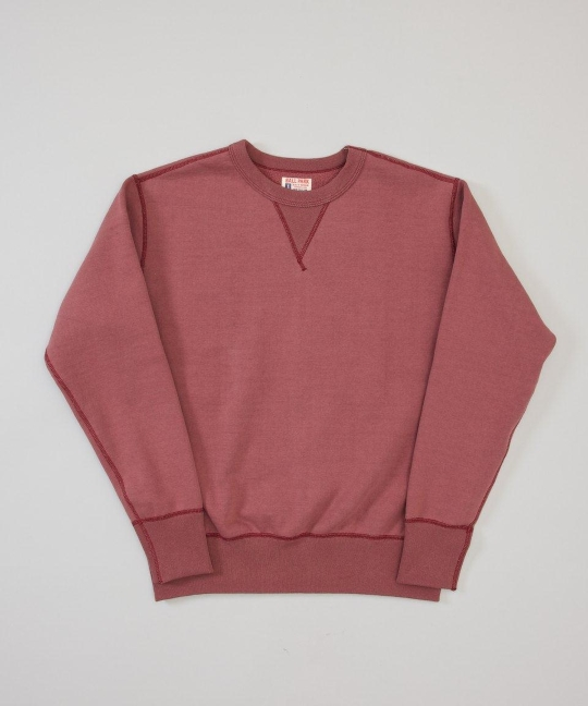 The Real McCoy's Burgundy Sweat - Superdenim