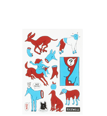 Rockwell by Parra - 16 stickers on A4