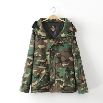 Harajuku style camouflage jacket spring coat men /women connectors fashion hooded sweater women's coat outwear -in Basic Jackets from Apparel & Accessories on Aliexpress.com