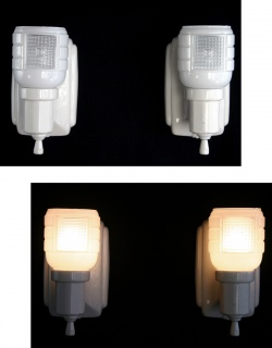 """Lighting&Electric - 1930-40's """"2-way"""" Porcelain Bathroom Lamp【PAIR】 - FUNNY SUPPLY □ Antiques ■"""