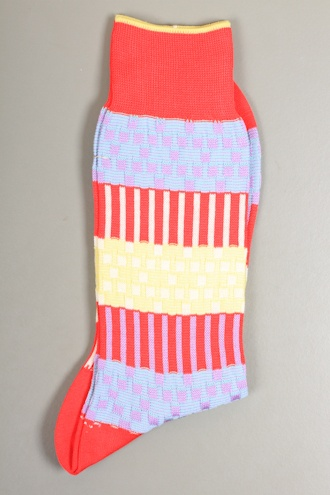 AYAME Plant Woven Sock in Red - SOCKS from Autograph UK