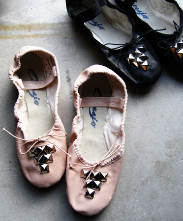 Studded Capezio Ballet Slippers