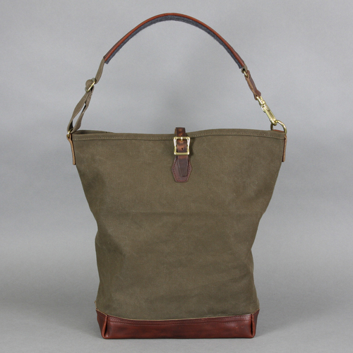 AGING CANVAS / ONE STRAP CARRYALL(OLIVE) | evergreen works
