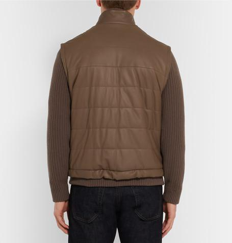 Loro Piana - Convertible Leather and Cashmere Jacket