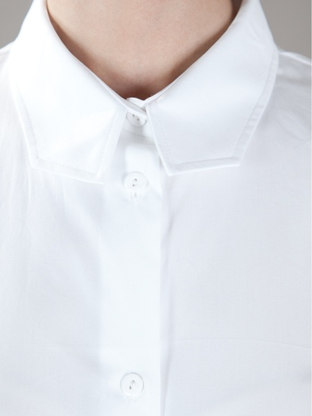 Carven Structured Collar Shirt in White | Lyst