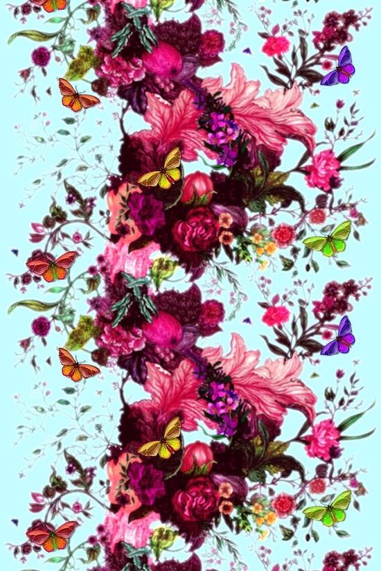 P.S.- Colors that Inspire... / Timorous Beasties Fabric - Butterfly Blurr