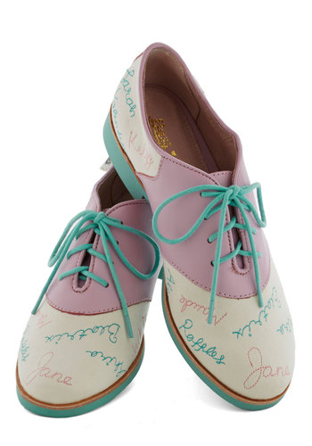 Rachel Antonoff for Bass Year After Yearbook Flat | Mod Retro Vintage Flats | ModCloth.com