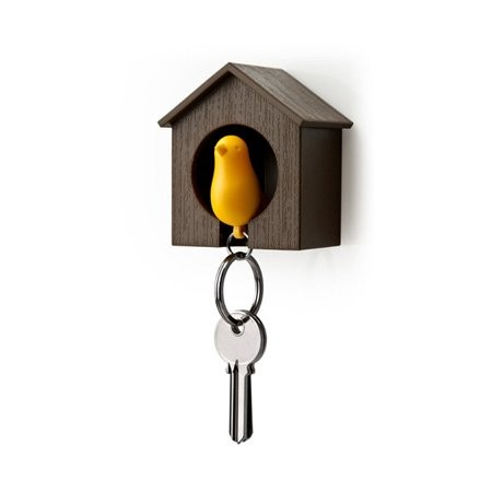 Sparrow Key Ring (Brown/Yellow)