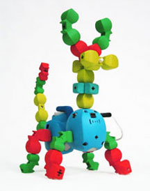 Topobo construction kit with kinetic memory