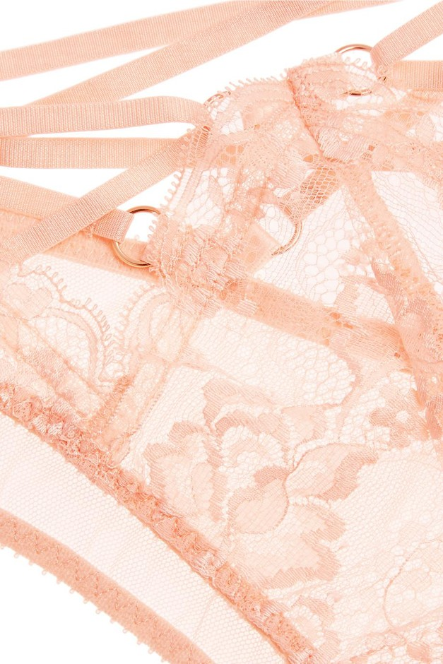 Agent Provocateur | Essie satin-trimmed stretch-Leavers lace and tulle briefs | NET-A-PORTER.COM