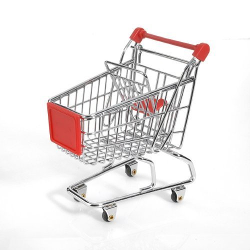 Amazon.com: Minya International Corp. Mini Shopping Cart - Red: Toys & Games