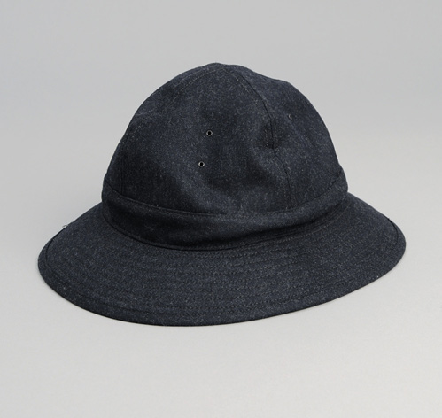WOOL FATIGUE HAT, NAVY :: HICKOREE'S