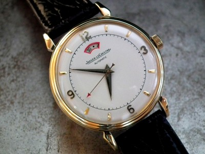 Just Beautiful 1950′s Solid 18ct Gold Jaeger le Coultre Powermatic 'Bumper' Gents Vintage Watch | Sonning Vintage Watches