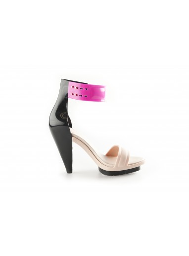 Pedro Lourenco + Melissa No. 1 Platform Sandal Nude/Pink | Collaborations with Vivienne Westwood, Jason Wu, Pedro Lourenco, Campana | Buy Melissa Plastic Shoes, Sandals, Wedges and Flip Flops at NONNON.co.uk - nonnon.co.uk
