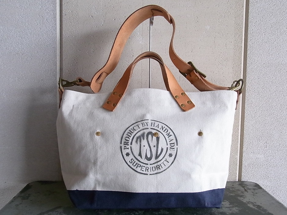 THE SUPERIOR LABOR engineer shoulder bag S [NAVY/WHITE] - RADICAL VINTAGE & NEW CLOTHING