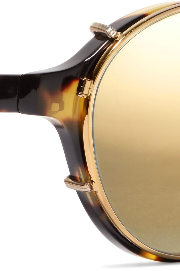 Westward Leaning | Dyad 6 aviator-style acetate and gold-tone sunglasses | NET-A-PORTER.COM