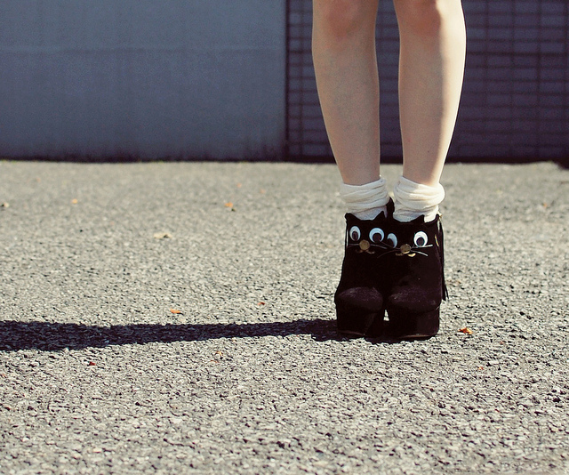polka dots with cat shoes | Flickr - Photo Sharing!