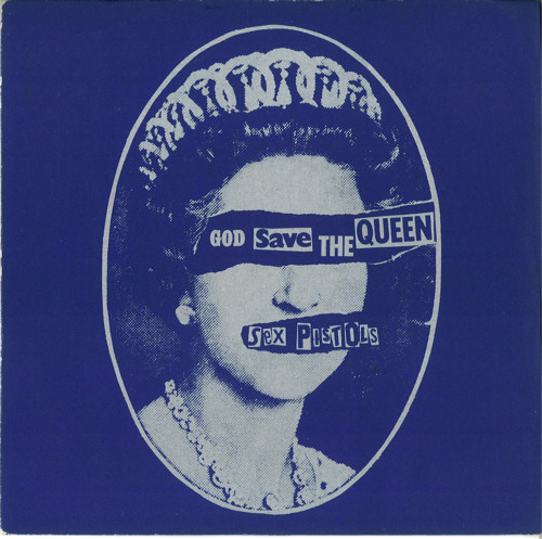 "God Save The Sex Pistols - God Save The Queen United Kingdom 7"" Blue/Silver labels"