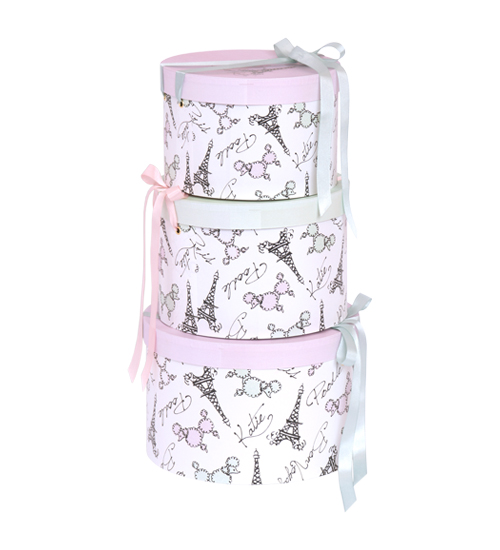 ACCESSORY - HAT BOX round FRENCH POODLE L - Katie Official Web Store