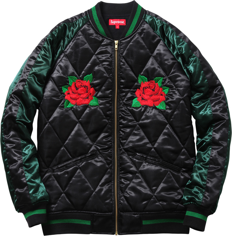Supreme Quilted Satin Bomber