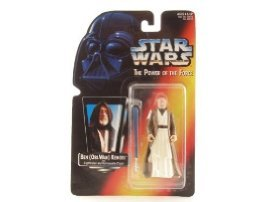 Amazon.com: Star Wars Power of the Force Ben Kenobi Red Card Action Figure with Lightsaber and Removable Cloak: Toys & Games