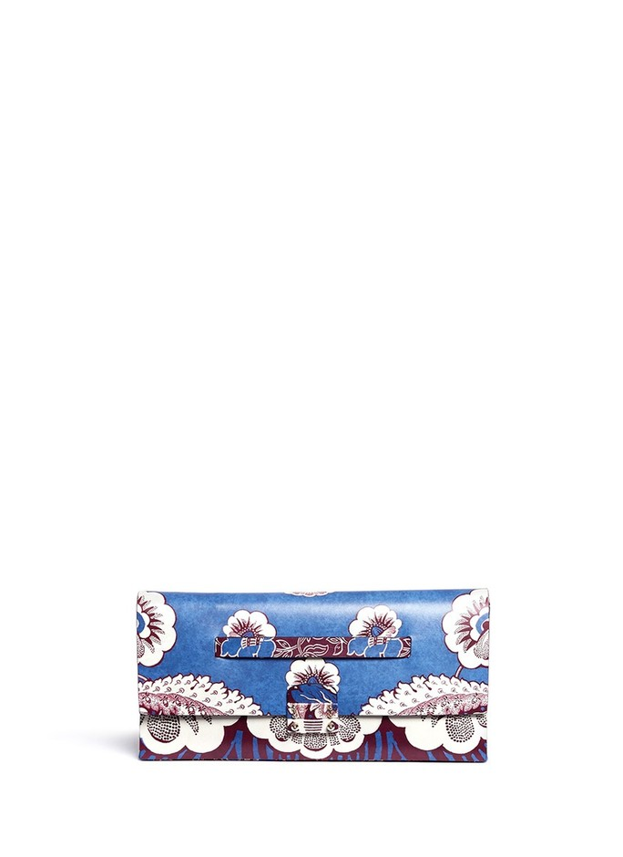 VALENTINO - Tropical floral print leather clutch | Multi-colour Day Clutches | Womenswear | Lane Crawford