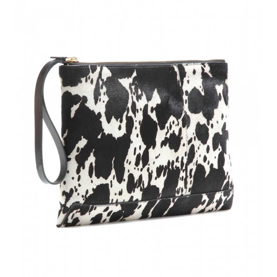 mytheresa.com - Animal-print pony-hair clutch - Current week - New Arrivals - Luxury Fashion for Women / Designer clothing, shoes, bags