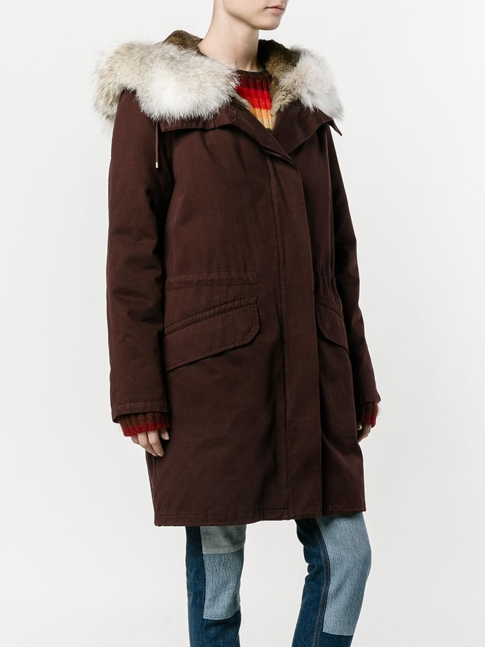 Yves Salomon Classic Rabbit Fur-lined Parka - Browns - Farfetch.com
