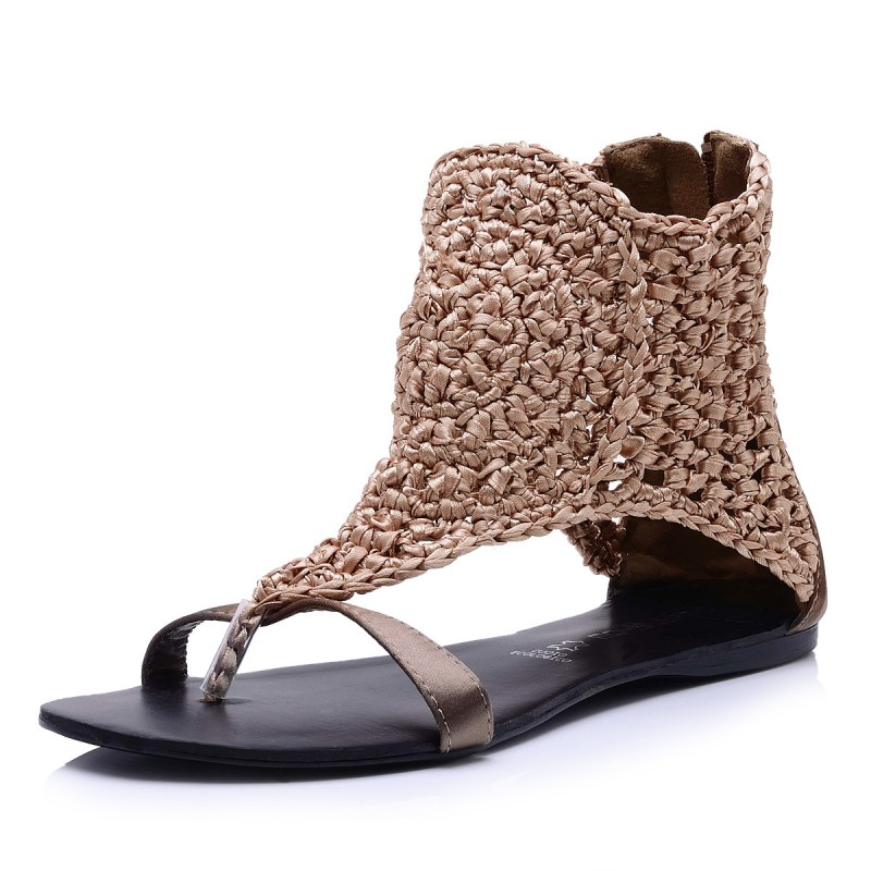 Braided Sandals - Fashion Western Style Sandals for Women