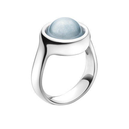 SPHERE ring - sterling silver with aquamarine