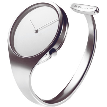 VIVIANNA large open bangle steel watch