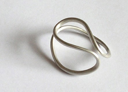 Sterling Silver 'ring OMEGA No. 1' From The WEARABLE SCULPTURE Collection | Luulla