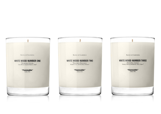 Baxter of California 'White Wood – Series 2′ Candle Series Holiday 2011 baxter-white-wood-candles-2 – Highsnobiety.com