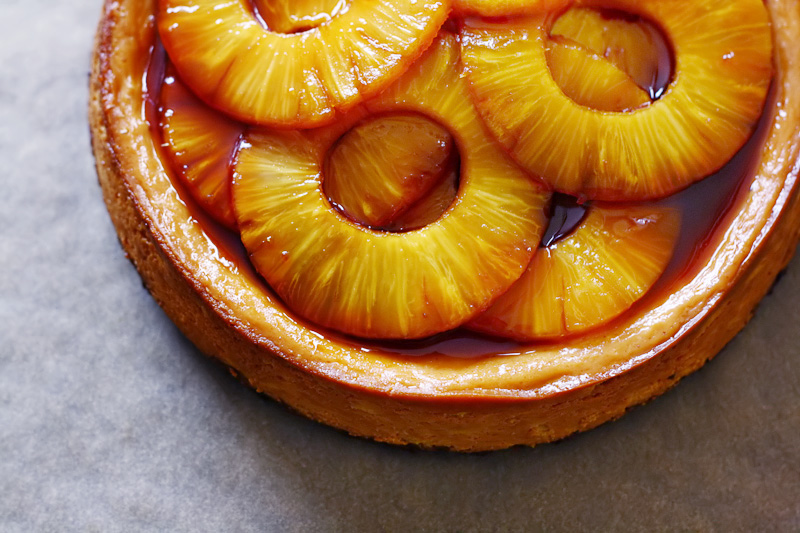 Caramel Pineapple Cheesecake - Citrus and Candy