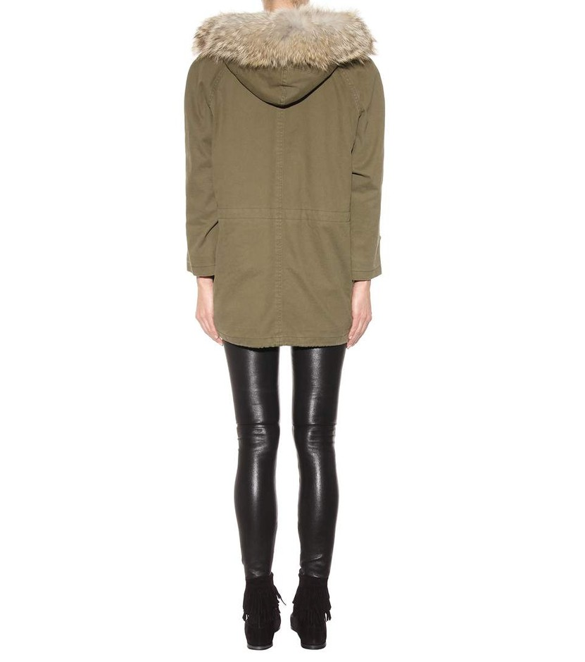 mytheresa.com - Cotton and linen parka with fur-trimmed hood - Luxury Fashion for Women / Designer clothing, shoes, bags