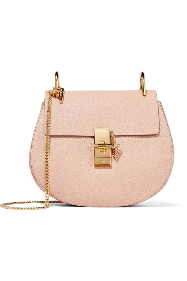 Chloé | Drew small textured-leather shoulder bag | NET-A-PORTER.COM