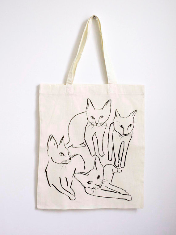 Picasso Cats Tote by leahgoren on Etsy