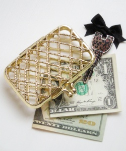 """Accessories - 1970-80's """"GOLD MESH"""" Small Purse【箱付きDEAD-STOCK♡】 - Little ♥ Hideaway 〜ヴィンテージから現代まで〜 Candy Hearts♡USA & UK 輸入雑貨"""