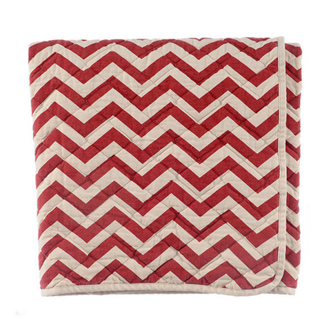 Canvas Throw - Red Zigzag   Archival Clothing