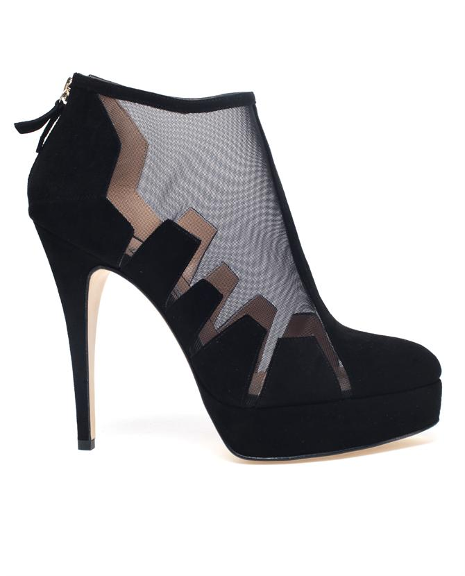 Browns fashion & designer clothes & clothing | BIONDA CASTANA | 'Belen' Cut-Out Suede and Mesh Shoe Boots