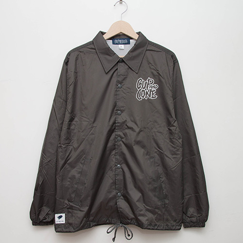 Coaches Jacket - Charcoal - cup and cone WEB STORE