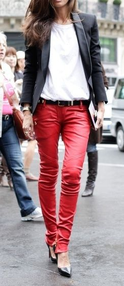 Red Haute / Red leather pants | The House of Beccaria