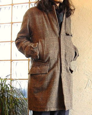 ENGINEERED GARMENTS CHESTER FIELD COAT HB TWEED BROWN