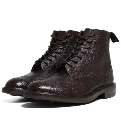 SOPHNET. x Tricker's Wing Tip Boots (Brown)