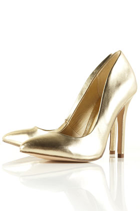 GAME Metallic Pointed Court Shoes - New In This Week - New In - Topshop