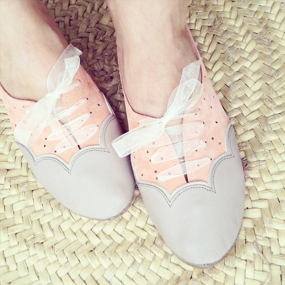 Scalloped Oxfords Handmade Shoes by elehandmade on Etsy