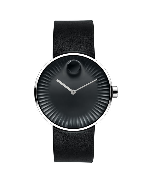 Movado | Movado Edge men's large stainless steel watch with black dial | Movado US