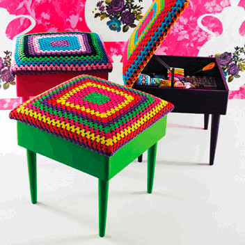 Superhot Bargain Alert! Rice DK Crochet Covered Stools Now £45!!