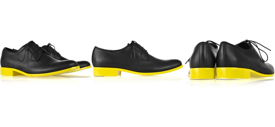 absinthrill: JIL SANDER - two-tone lace-up leather brogues
